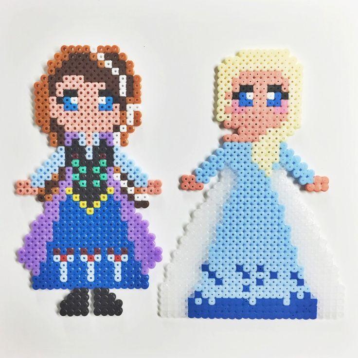 Pärlplattor Elsa och Anna i Frost