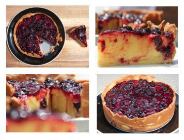 Custard Berry Pie