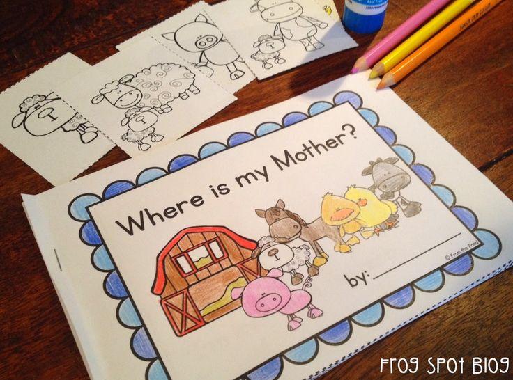 Free Printable Reader - Mothers, Farm Animals, Farm Babies