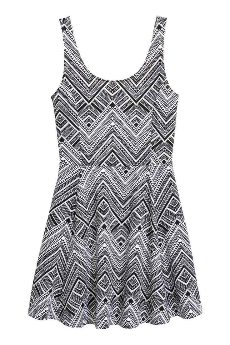 Dżersejowa sukienka - Czarny/Wzór - ONA | H&M PL