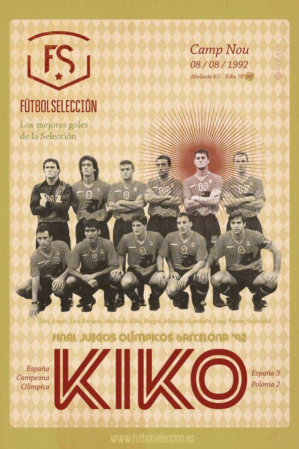 Goles míticos de la Selección española: Gol de Kiko, Olimpiadas Barcelona 92