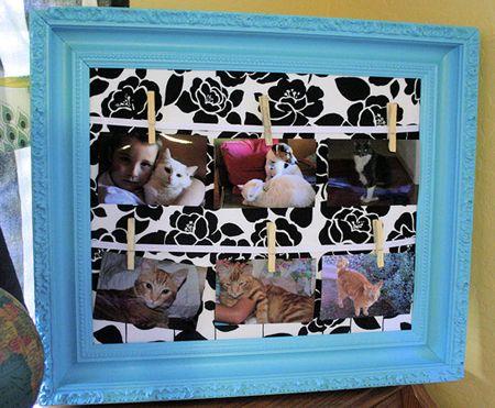Unique DIY picture frame craft idea for your home decor!