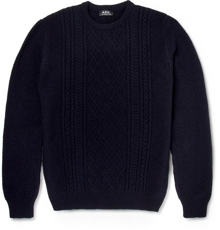 A.P.C. - Cable-Knit Wool Sweater|MR PORTER