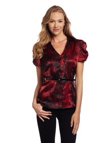AGB Women's Print Dull Charmeuse Short Sleeve Blouse, Black/Red, X-Large AGB, http://www.amazon.com/dp/B005GCNOAK/ref=cm_sw_r_pi_dp_PfrTpb0G4X31A