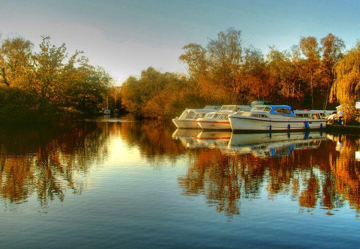 The moorings at Ludham, Norfolk Broads