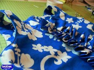 Обработка платья без рукава