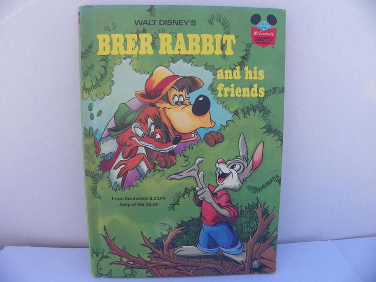 Brer Rabbit and His Friends - Disney's Wonderful World Of Reading Hardcover Book - First Edition 1973 Disney , Children's Disney Story Book by ShersBears on Etsy
