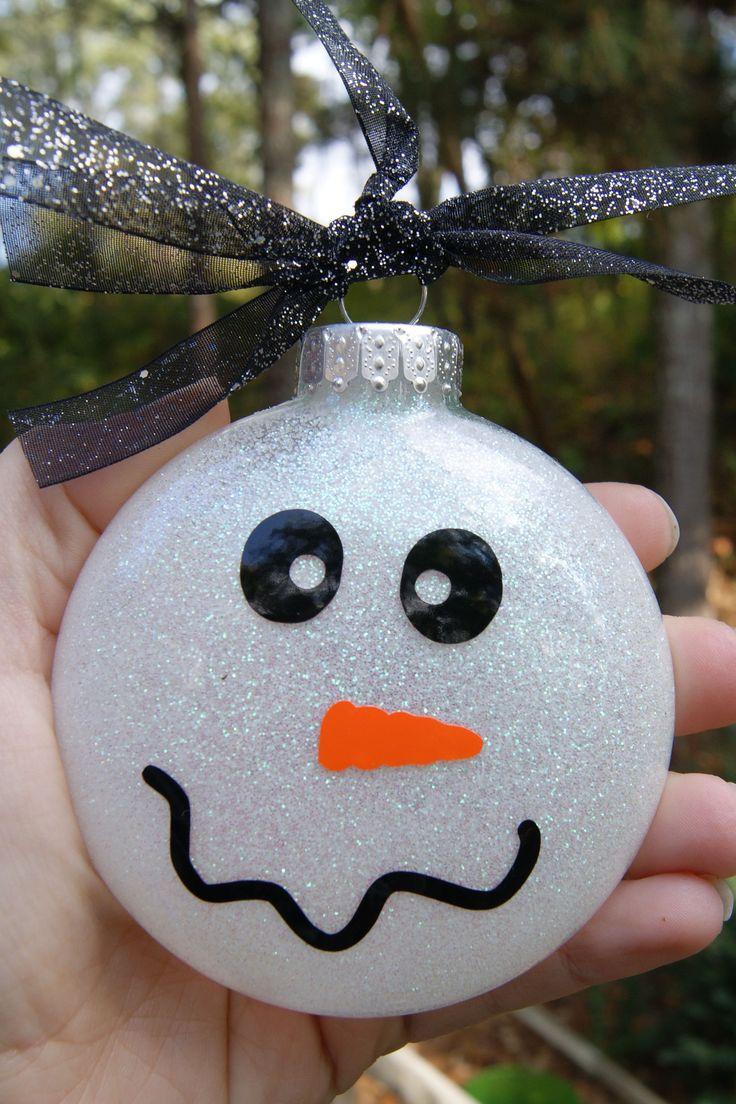 Custom christmas ball ornaments - Christmas Snowman Ornament