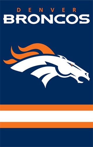 Denver Broncos NFL Applique Banner Flag | Man Cave Kingdom