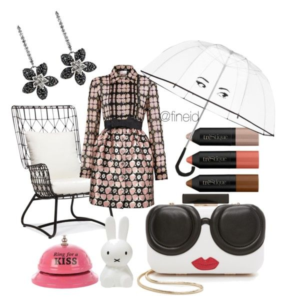 Spring outfit by fineid on Polyvore featuring moda, RED Valentino, Alice + Olivia, Kate Spade and Palecek