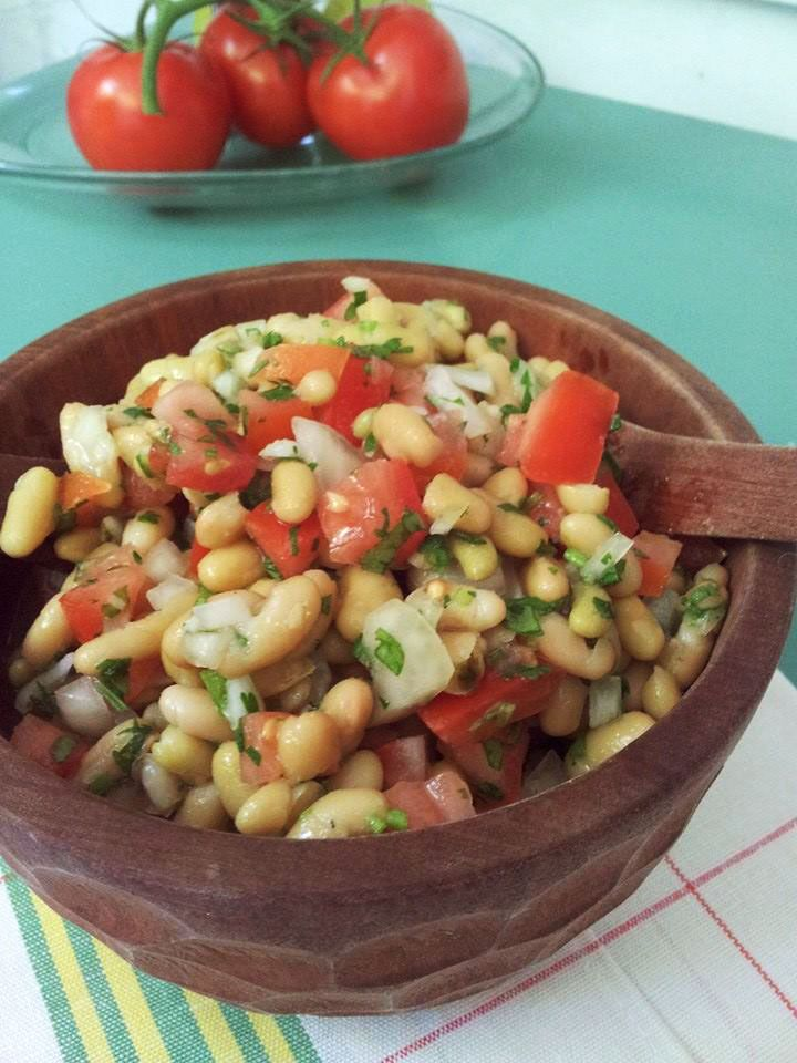 ensalada porotos chilena