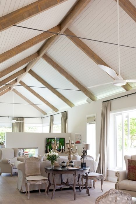 62 best images about exposed timber trusses on pinterest for Vaulted ceiling with exposed trusses