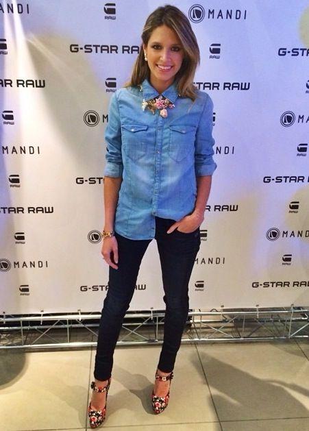 Para o evento da marca de jeans G-Star no Shopping Iguatemi, eu usei calça e camisa jeans G-Star, salto Dolce & Gabbana e colar da loja Excelsior de Milão. Gostaram?...