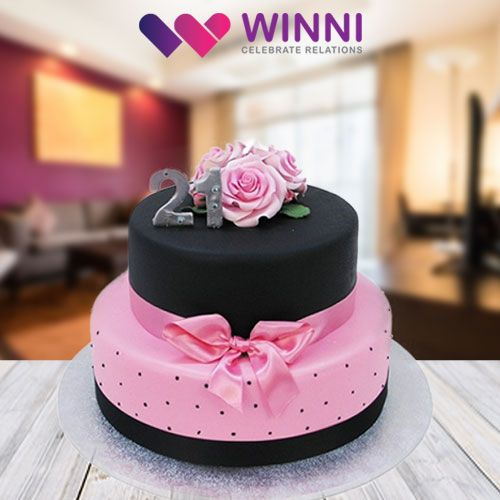 Have a lovely celebration of your 21st birthday or anniversary! Order this mouth-watering #cake from #Winni and get it delivered at your doorstep.