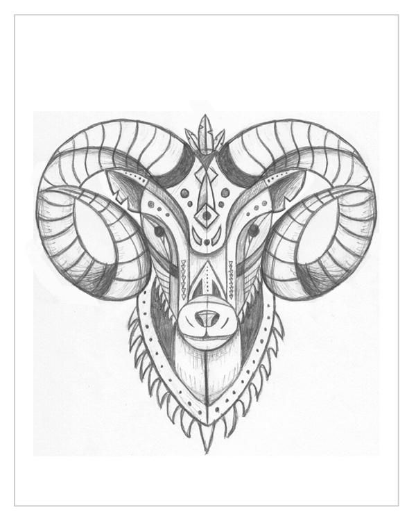 Best  Aries Tattoos Ideas On   Ram Tattoo Aries