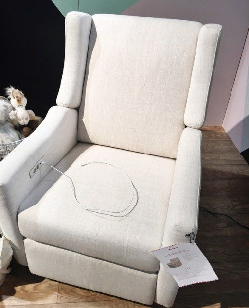 NurseryWorks Swivel Glider | Top Baby Products for 2017 from the ABC Kids Expo. 15 | The Kiwi Glider Recliner by Babyletto. This glider quietly reclines with the push of a button, so you can lay back and lounge without fear of waking your baby. Not only that but it has a built-in USB port to charge your phone. Available now from Amazon.