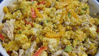 Recette Salade de couscous au poulet  Délicieux!!!