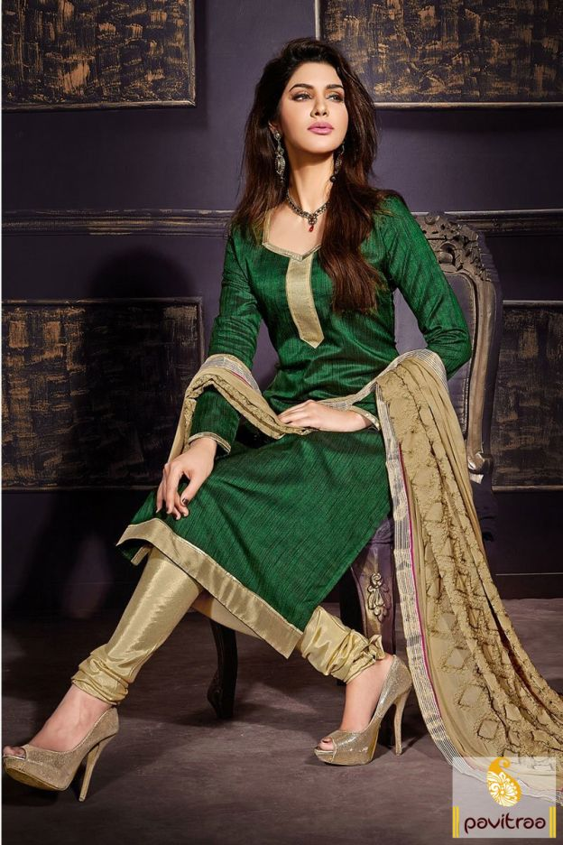 Excellent green chikoo casual dress with chiffon dupatta online portal. It is made up of zari threaded embroidery and lace patti on dupatta and plain dress. #salwarkameez, #cottonsalwarkameez, #casualsalwarlameez, #printedsalwarkameez, #indiansalwarkameez,   #churidarsalwarkameez, #discountoffer, #pavitraafashion, #utsavfashion, #embroiderysalwarsuit, #chiffonsalwarsuit, #georgettesalwarsuit http://www.pavitraa.in/store/casual-dress/ callus:+91-7698234040