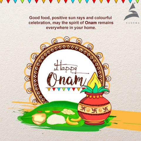 May the festival of Onam be the harbinger of cheer, good luck, peace & prosperity that stays in your home & life. Sushma Buildtech wishes you a Happy #Onam #Festival #Colours #SushmaBuildtech