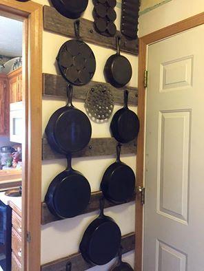 Cast iron skillet display