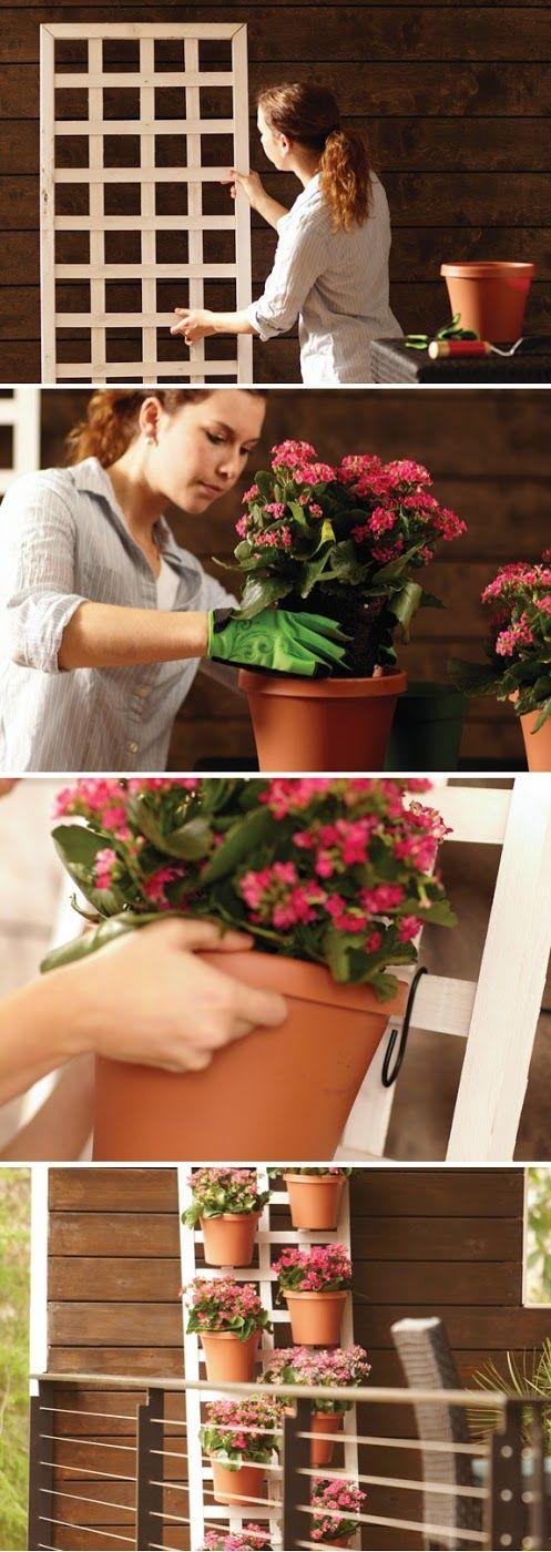 Make A Vertical Garden DIY - good for herbs too!