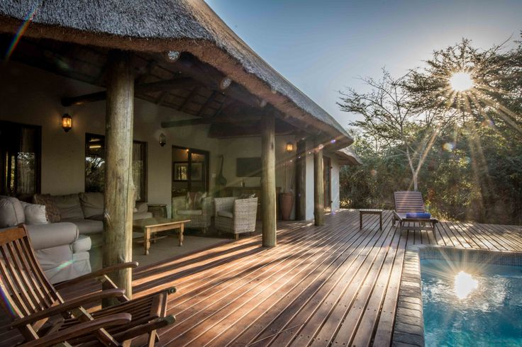 The Cottage at Rhino River Lodge, South Africa. Perfect for families and groups of friends.  Photo © Claire Birtwhistle