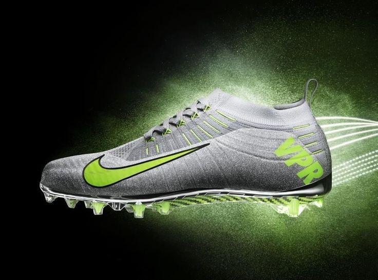 Mens Nike Vapor Ultimate TD Football Cleats Size 9 Metallic Silver Sparkle/Volt #Nike