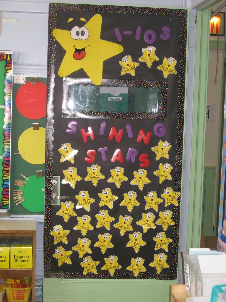 Classroom Decor Stars ~ Best classroom door decor images on pinterest