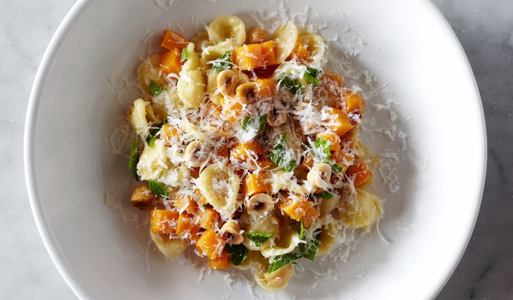 Orecchiette with Squash, Chiles, and Hazelnuts - Bon Appétit
