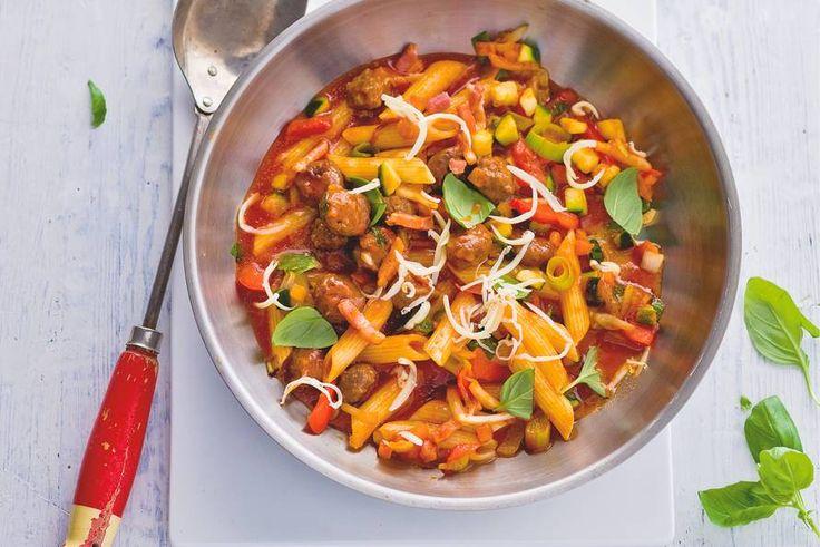 Drukke dag? Deze pasta staat in een kwartier op tafel - Recept - Allerhande