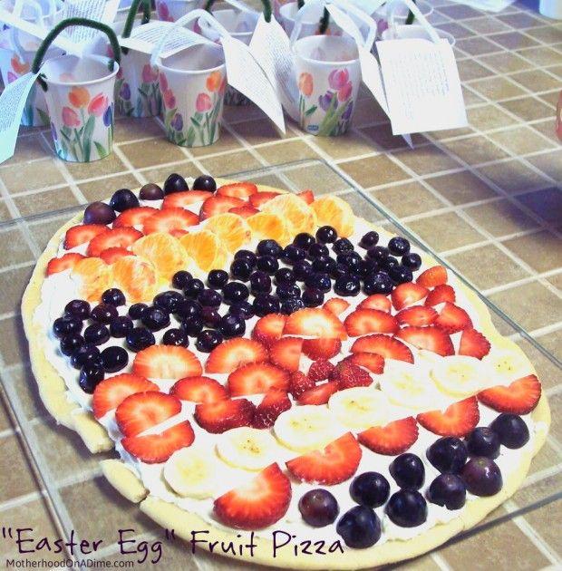 """""""Easter Egg"""" Fruit Pizza"""