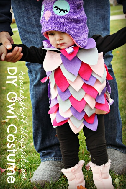 DIY Owl Halloween Costume... I know what Zurie is gonna be.