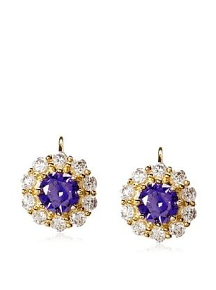 66% OFF CZ by Kenneth Jay Lane Leverback Round Earrings