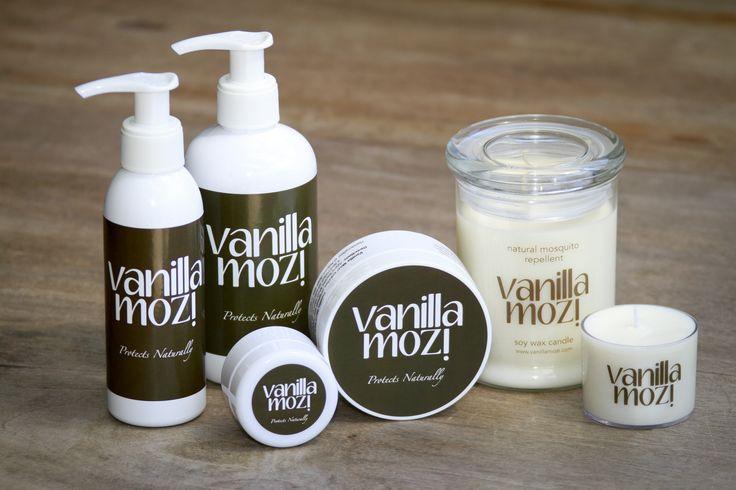 The Vanilla Mozi product range.