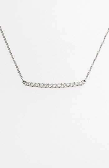 Bony Levy 'Stick' Pavé Diamond Bar Necklace (Nordstrom Exclusive) available at #Nordstrom