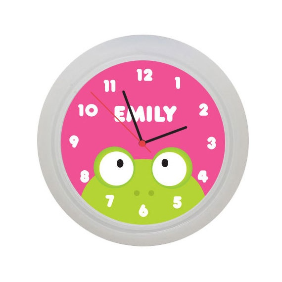 Frog Wall Clock for Children by PeekaPals on Etsy, $16.99
