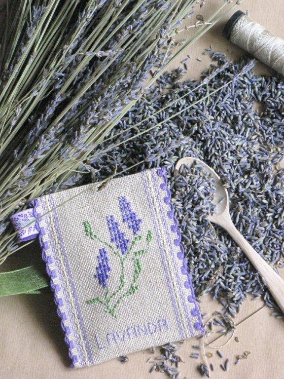 lavender (and I can cross stich those cute little sachets!!)