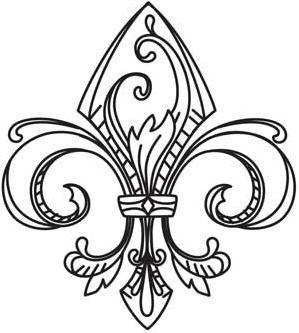38 best images about embroidery patterns fleur de lis on pinterest design graphics and tiaras - Dessin fleur de lys ...