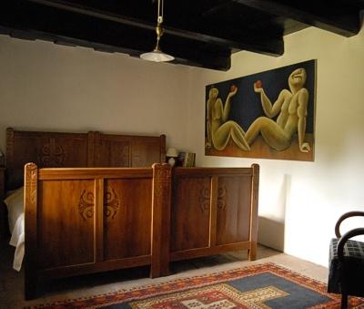 Káli Cottages at Lake Balaton - back bedroom in the Main Cottage