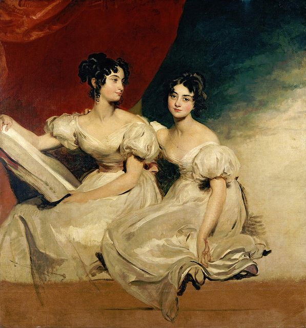 Sir Thomas Lawrence 'A double portrait of the Fullerton sisters
