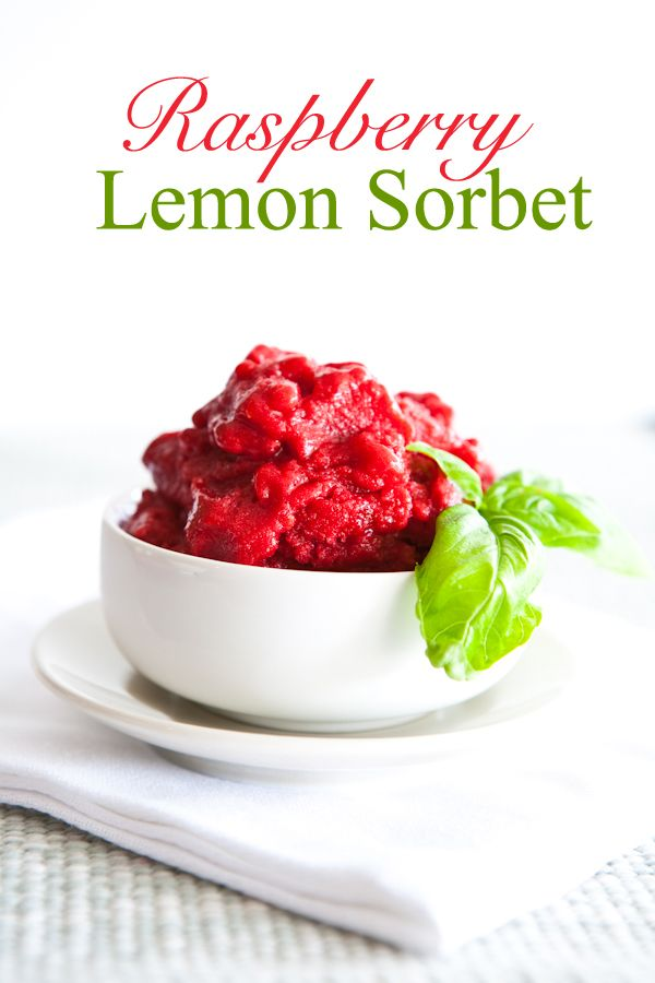 Raspberry Lemon Sorbet by EclecticRecipes.com #recipe