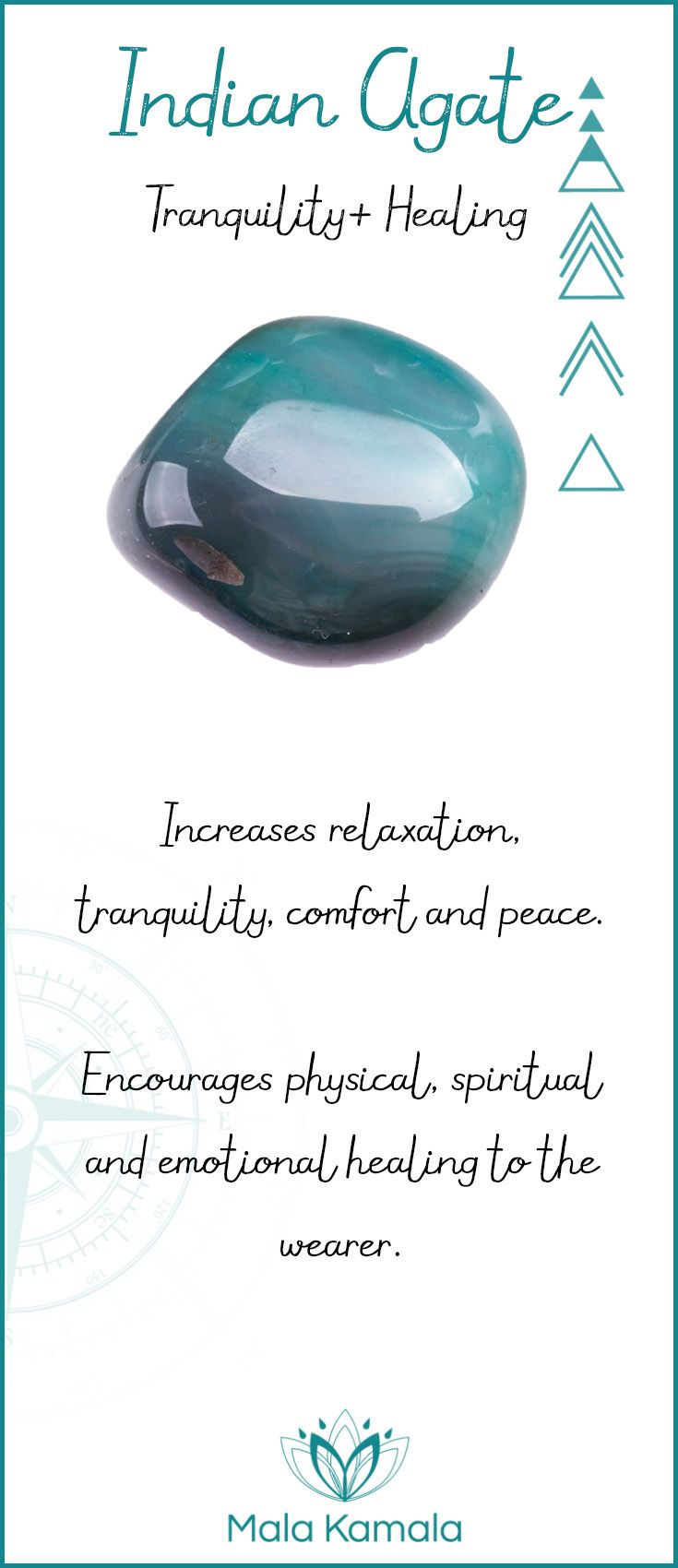 What is the meaning and crystal and chakra healing properties of indian agate? A stone for tranquility and healing.