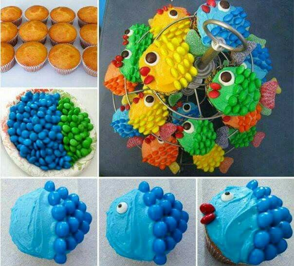 Fish cuppies .