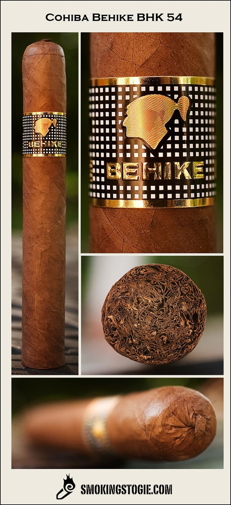 COHIBA BEHIKE BHK54 location Cuba  Bold- notes of coffee beans, with an earthy core leading to a leathery smoke