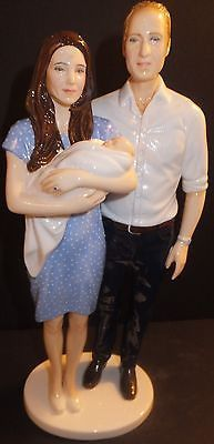 Royal Doulton Royal Birth Prince George William Kate Figurine HN5716 New Signed