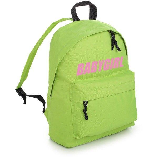 BABYGIRL BACKPACK (77 BRL) ❤ liked on Polyvore featuring bags, backpacks, gothic bags, punk rock backpacks, grunge bags, grunge backpack and rucksack bag