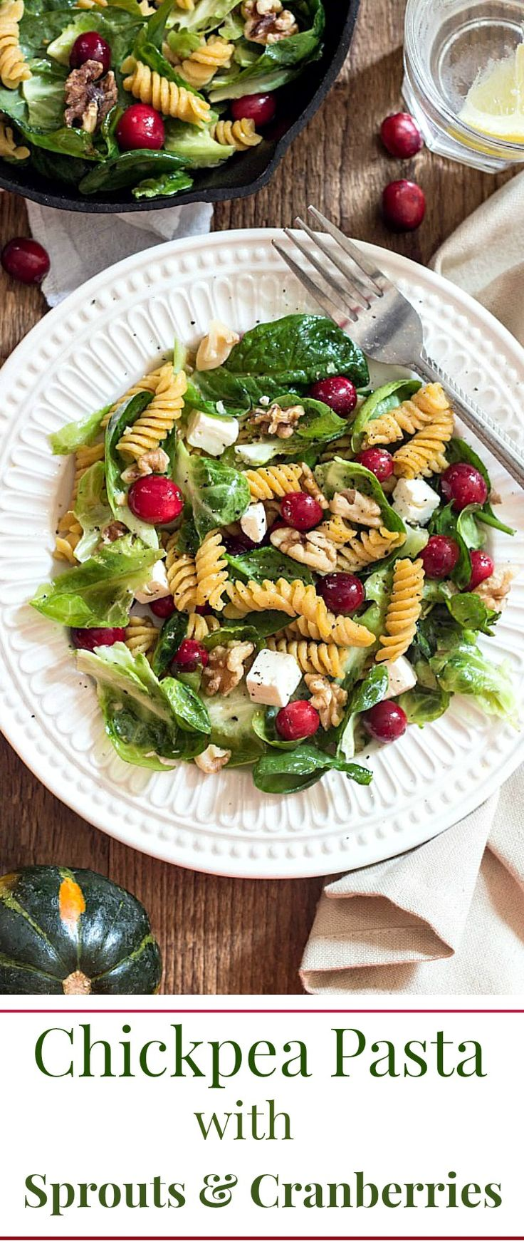 Pasta with Brussels Sprouts, Spinach and Cranberries | Recipe ...