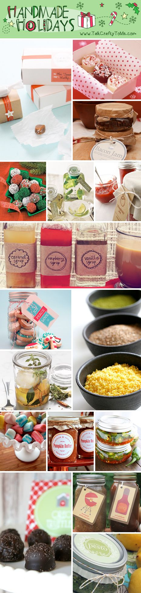 Handmade Gift Guide: Gifts From The Kitchen ...great pin site for all sorts of things