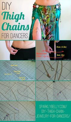 DIY Thigh Chain Jewelry for Dancers - SPARKLY BELLY