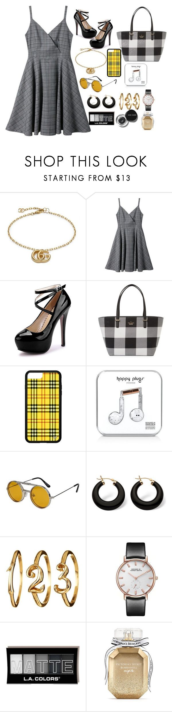 """""""my humps by black eyed peas"""" by pixienathalie ❤ liked on Polyvore featuring Gucci, Kate Spade, Happy Plugs, Spitfire, Palm Beach Jewelry, Bobbi Brown Cosmetics and Victoria's Secret"""